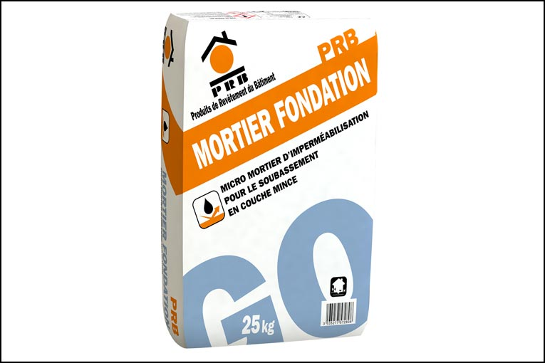 PRB a lancé PRB Mortier de Fondation, un nouveau micro-mortier d'imperméabilisation en couche mince pour le soubassement. [©PRB]