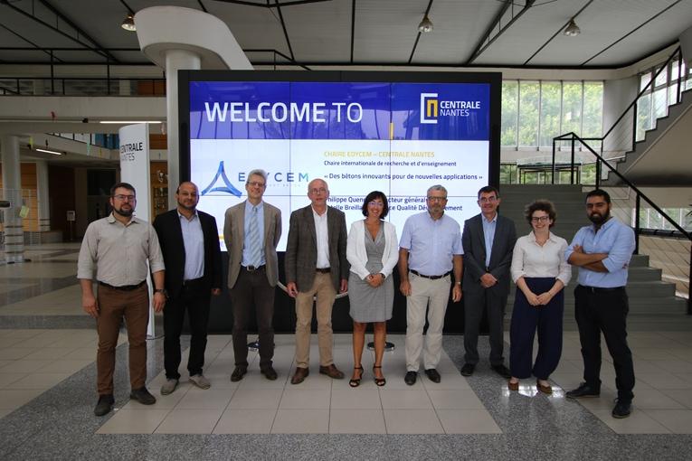Les bétons responsables sont au cœur du renouvellement de la chaire de recherche, qui associe Edycem et Centrale Nantes. [©Edycem]