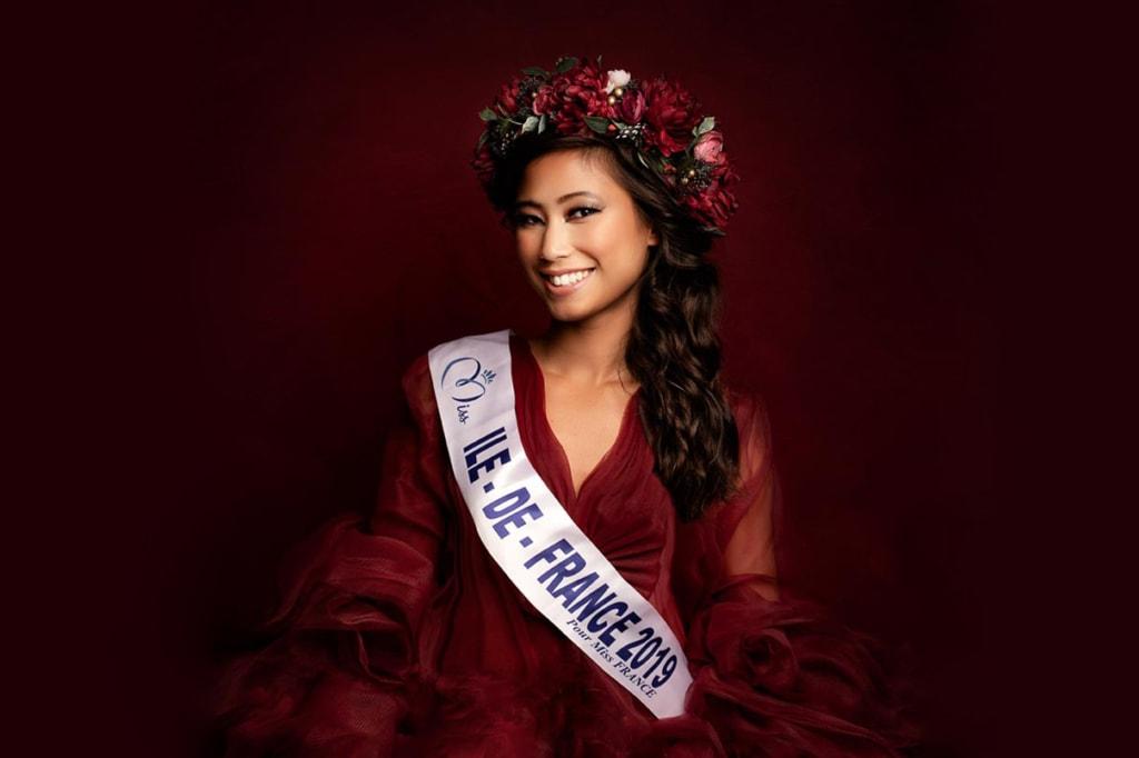Evelyne de Larichaudy, 24 ans, a participé au concours Miss France 2020 en décembre denier en tant que Miss Ile-de-France. [©Dumez]