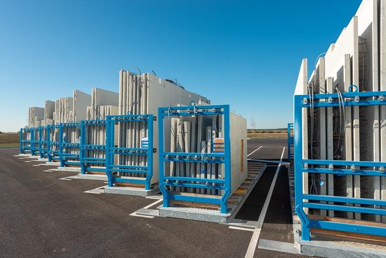 Racks de manutention de prémurs Cartel Manutention, au sein de l'usine KP1 de Vernouillet. [©ACPresse]