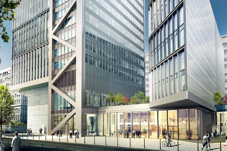 Exemple de construction métallique : Projection de la réhabilitation et de l'extension de la tour Silex, à Lyon. [©SMB/Architectes Arte Charpentier Architectes & MA Architectes]