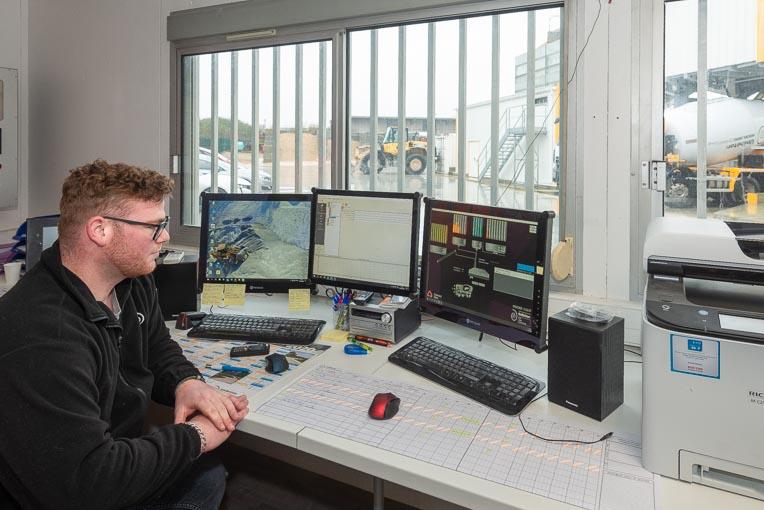 Paul Cordelle est en charge du pilotage de la dernière-née des unités de production Unibéton. [©ACPresse]