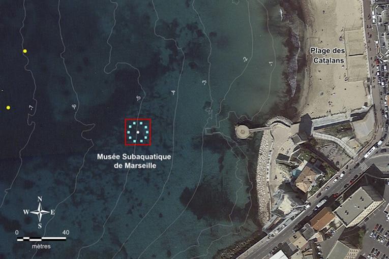 Plan de localisation du Musée Subaquatique de Marseille