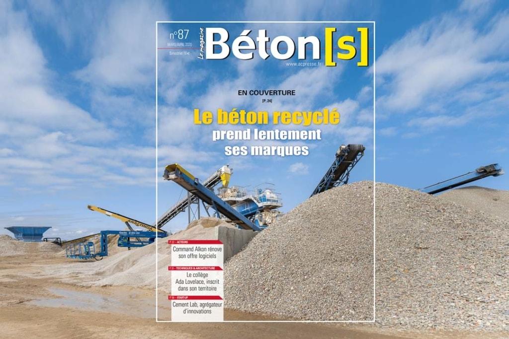 Béton[s] le Magazine : Le béton recyclé prend lentement ses marques. [©ACPresse]