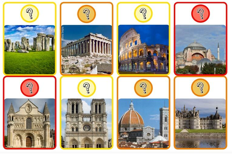 Le jeu Archifrise permet de se confronter à des questions d'architecture de façon ludique, en parcourant le temps depuis la préhistoire jusqu'aux années 2010. [©DR]