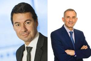 Laurent Germain, directeur général, et Pierre-Marie Chavannes, président non exécutif du conseil d'administration d'Egis. [©Egis]