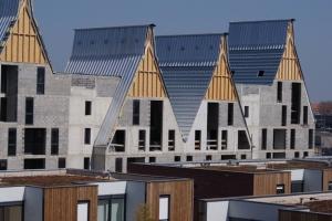 Les blocs Cogetherm sont utilisés pour la construction de pavillons, comme pour des petits collectifs. [©Cogetherm]