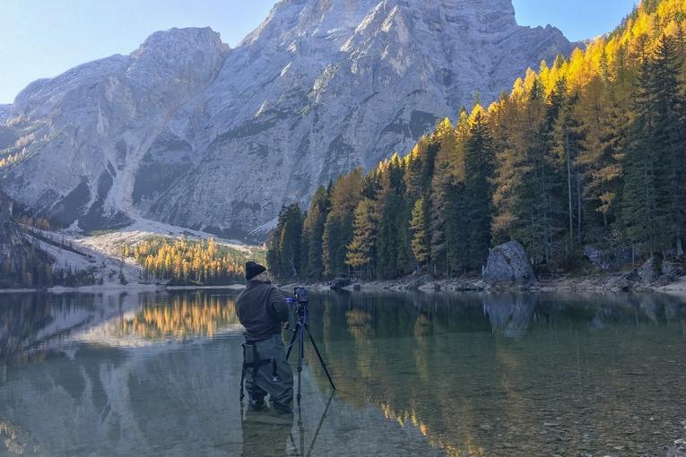 Franck Lefebvre pris en photo lors de ses tournages en Italie, en juillet 2018. [©Franck et Florence Lefebvre]