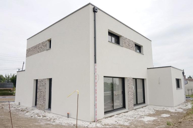 La coopérative Nord Alliance Habitat a réalisé sa première maison individuelle isolée du sol aux murs par de la mousse polyuréthane projetée fournie par Icynène. [©ACPresse]