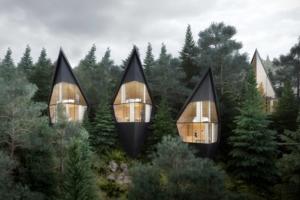 Réalisées en bois, ces cabanes ont été conçues pour se reconnecter avec la nature. [©Peter Pichler Architecture]