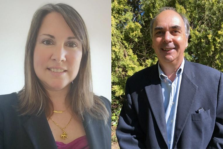 Vanessa Canovas, chef de produits isolation chez Siniat et Gérard Gaillet, chef de marché SlimIsol. [©SlimIsol]