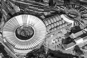 """Utilisé lors de la construction des rotondes de la SNCF, en Avignon et dans toute la France, le """"V Laffaille"""" rend son inventeur célèbre. [©Google Earth]"""