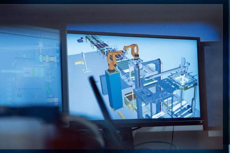 Le jumeau virtuel d'une machine permet son développement à moindre coût. [©KHS]