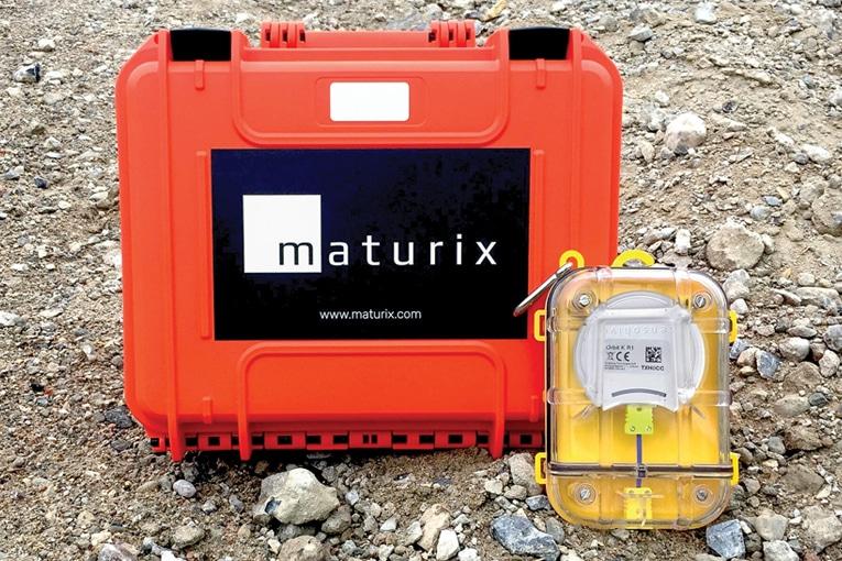 Maturix propose des kits de mesure à placer directement dans le béton au moment du coulage.[©Maturix]