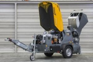 Le transporteur à chape Mixokret M 740 Stage V.