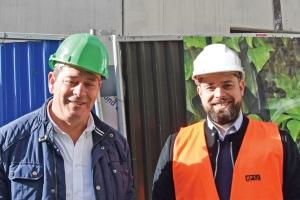Fernando Pereira, Dg de Bâtisseurs Franciliens, et Renald Nattier, chargé d'affaires KP1. [©Gérard Guérit]