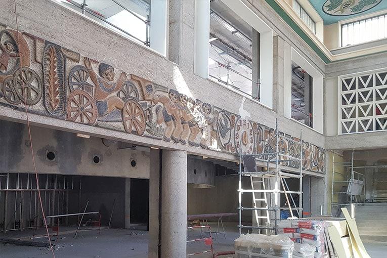 Le chantier de la Comédie est implanté sur l'ancien site de la gare routière de Clermont-Ferrand.