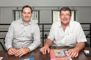 Joël Bardier, propriétaire et actionnaire de Marcotte Systèmes, et Alain Doh, directeur technique Europe. [©ACPresse]