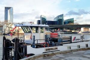 L'Emerillon navigue au GTL depuis septembre 2019. [©Photothèque Cemex]