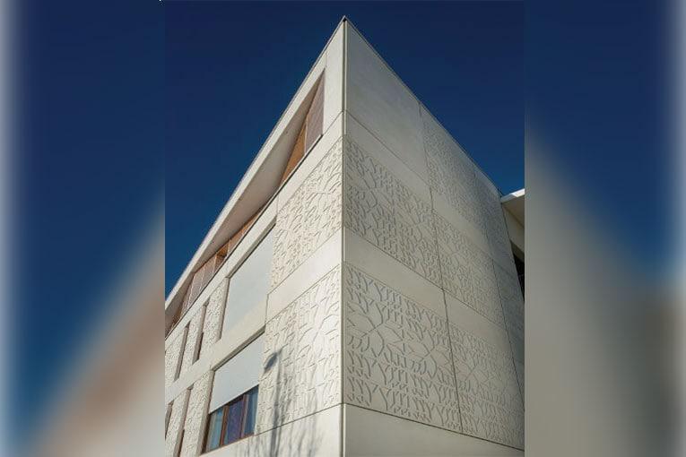 Résidence d'habitation Sainte-Thérèse, au Havre (76). Architecte : Atelier Bettinger. [©Ciments Calcia]