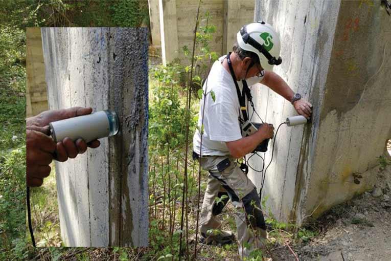"""Mesure de la vitesse de corrosion avec une sonde """"diamond""""."""