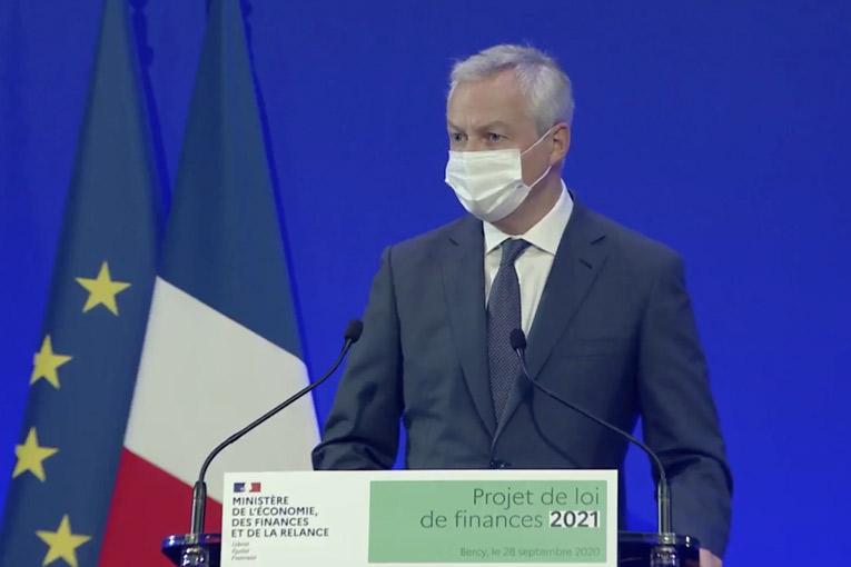 Bruno Lemaire et Oliver Dussopt, respectivement ministre de l'Economie, des Finances et de la Relance, et ministre délégué, ont présenté les grandes lignes du PLF 2021.