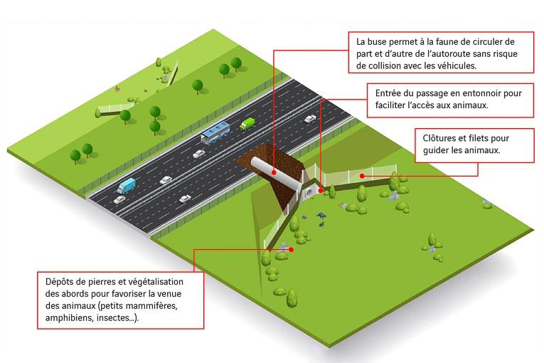 Principe de fonctionnement d'une buse sous autoroute. [©Vinci]