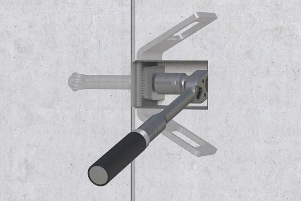 Le système d'Halfen permet de réaliser la connexion des éléments de manière immédiate. [©Halfen]