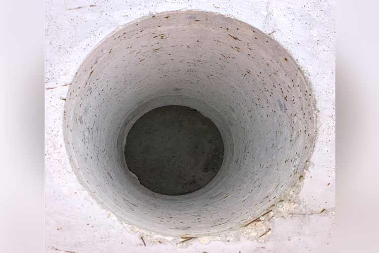 Carottage réalisé sur un voussoir test en béton fibré.[©Alliance]