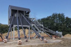 La nouvelle centrale de Béton Solutions Mobile en construction à La Courneuve. [©BSM]