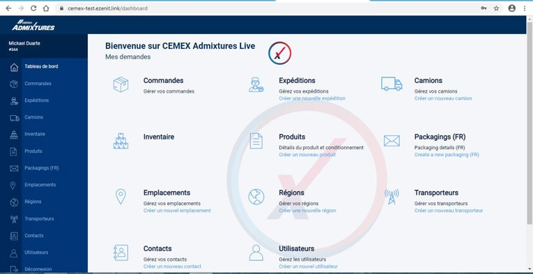 L'appli en ligne ultra personnalisable de Cemex Admixtures. [©DR]