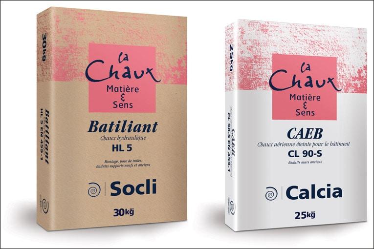 Ciments Calcia et Socli dotent leurs gammes chaux d'une nouvelle signature. [©HeidelbergCement]