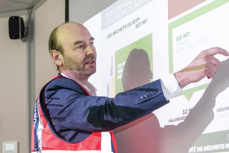 """Christophe Jozon, président de la commission """"Economie circulaire"""" à l'Unicem : « L'économie circulaire, nous la pratiquons depuis longtemps... »  [©ACPresse]"""
