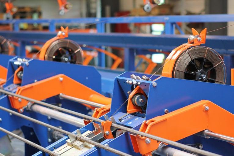 La SpinMaster de Pedax permet de conditionner les treillis d'armatures en rouleaux. [©Pedax]