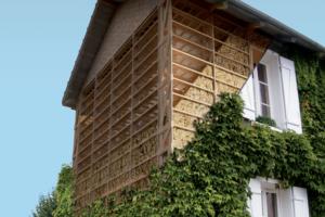 Montage visualisant la structure de la maison, tel qu'elle est parvenue jusqu'à nous. [©CNCP]