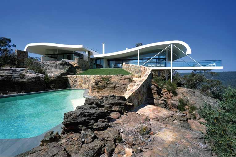 Réalisation de Berman House, située à Joadja, en Nouvelle-Galles du Sud (Australie). [©Eric Sierins]
