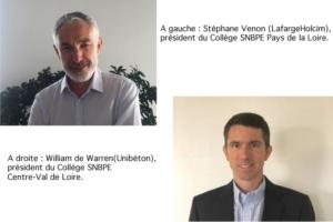 Stéphane Venon (LafargeHolcim) devient président du Collège SNBPE Pays de la Loire. Il succède à William de Warren (Unibéton), qui est nommé à la présidence du Collège Centre-Val de Loire. [©SNBPE]