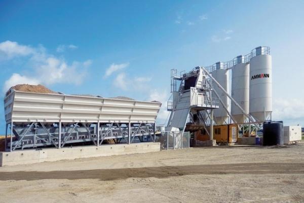 Ammann a mis en service en Inde la plus moderne de ses usines pour assurer la construction des centrales déplaçables CBT. [©Ammann]