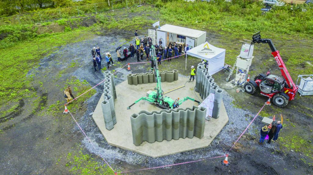 Les solutions de Constructions 3D sont très compactes, un atout pour les déployer sur chantier.  [©Constructions 3D]