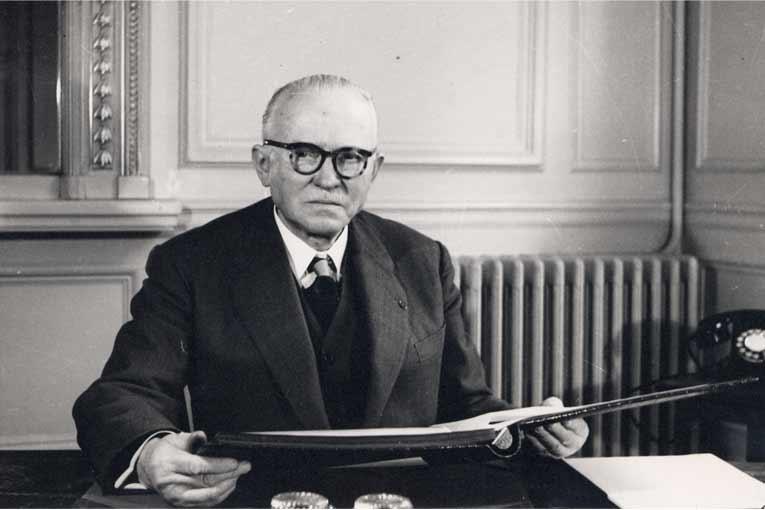 Eugène Freyssinet a consacré la deuxième partie de sa carrière au béton précontraint et à son utilisation. [©Freyssinet International]