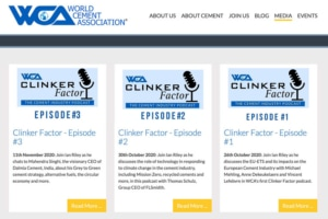 "Podcasts ""Clinker Factor"" accessible sur le site de la WCA."