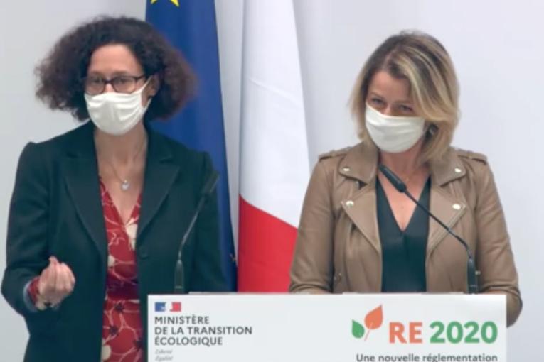 Emmanuelle Wargon et Barbara Pompili ont présenté les derniers arbitrages autour de la RE 2020.