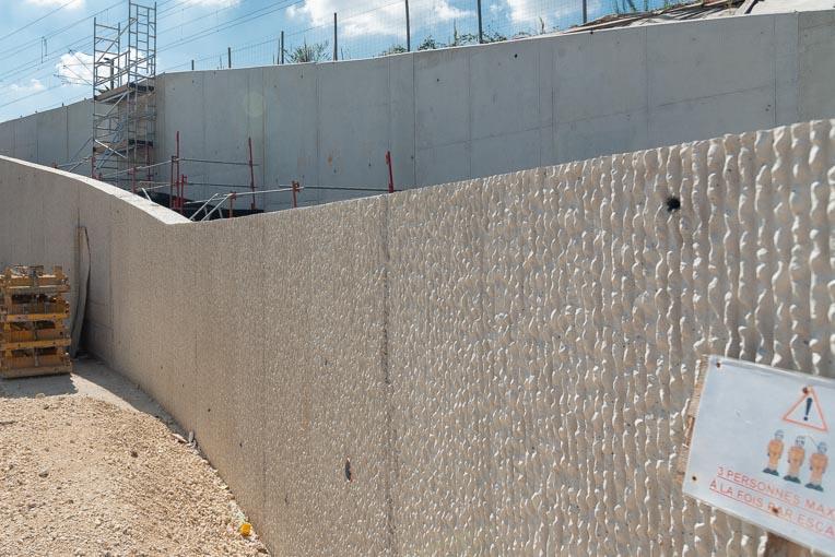 Mur matricé en béton