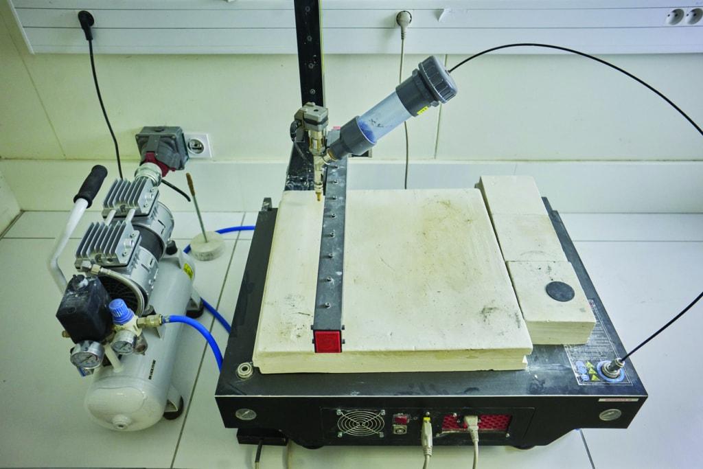 L'ESTP dispose d'une imprimante de paillasse pour l'impression de petits objets. [©ESTP]