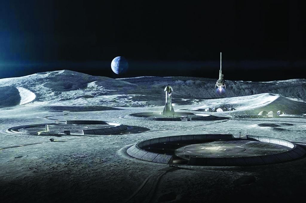 L'agence Big, SEArch+ et Icon cherchent à réaliser des bâtiments durables grâce à l'impression 3D, pour vivre sur la lune. [©Icon/SEArch+]