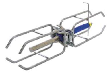 Figure 5 - Un goujon coulissant est un système mécanique, qui permet d'assurer une liaison, voire l'appui d'un élément de béton armé (une dalle ou une poutre) sur une structure existante. [©Paul Acker]