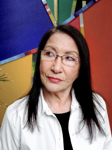 Portrait de la sculptrice Joséphine Chevry, en 2018. [©Olivier Ramon]