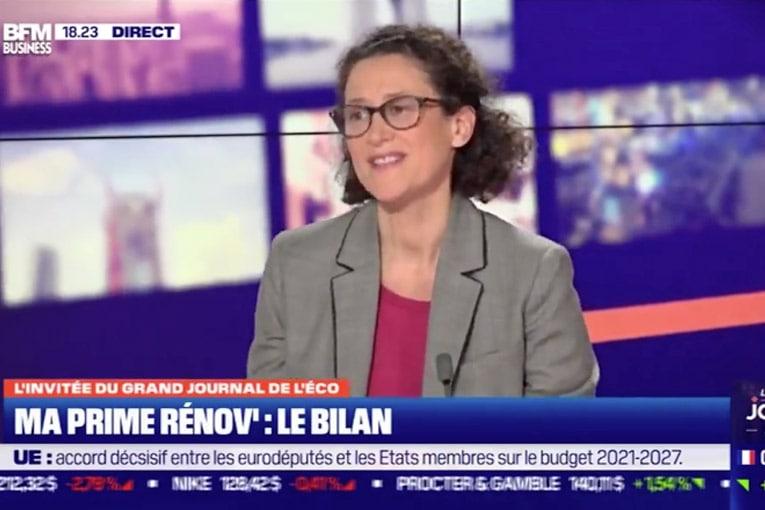 Emmanuelle Wargon affirme que le Pinel devrait continuer jusqu'en 2022. [©BFM TV]