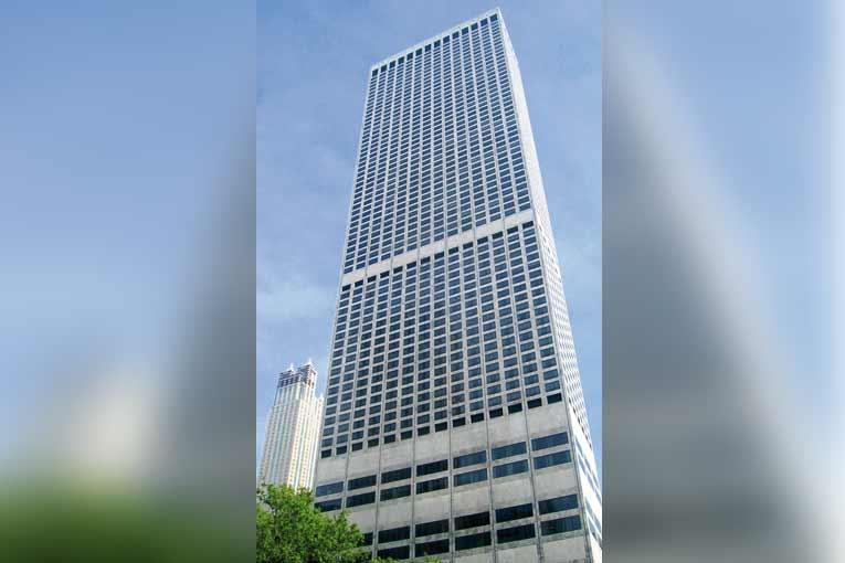 Le Water Tower Place de Chicago, érigé en 1968. [©Jeremy Atherton]