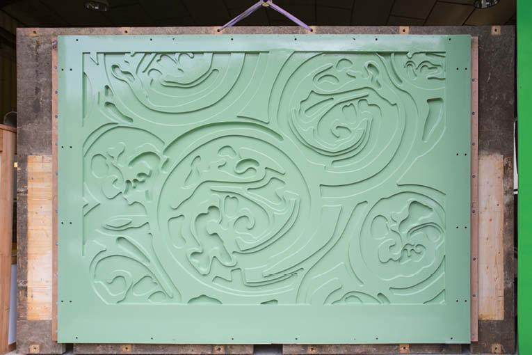 SMG André Turtschi a conçu et fabriqué les moules de la Forêt Linéaire du XIXe arrondissement de Paris.  [©SMG André Turtschi]